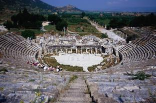 Amphitheater in Ephesus (Efes), Turkey