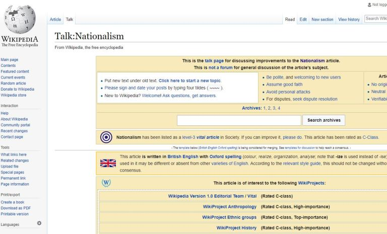Wikipedia as primary source