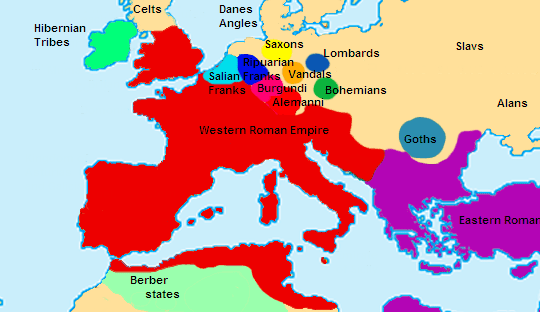 Europe in 400 CE