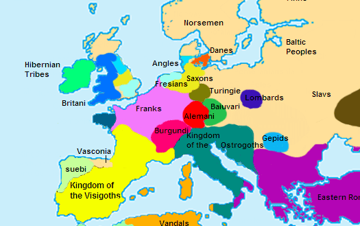 Europe in 500 CE